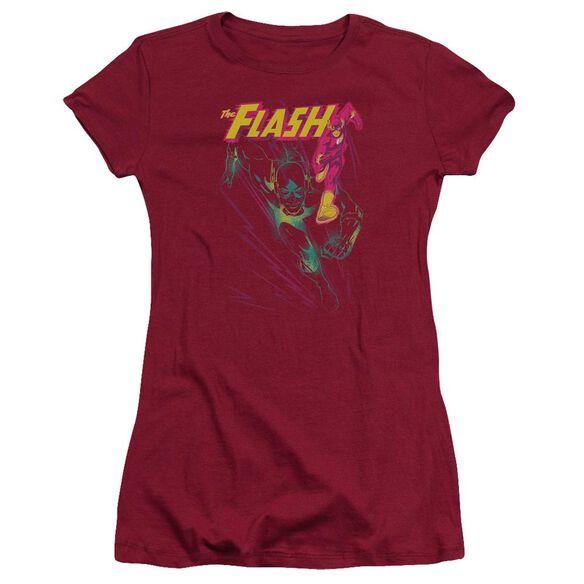 Jla Flash Spray Short Sleeve Junior Sheer T-Shirt