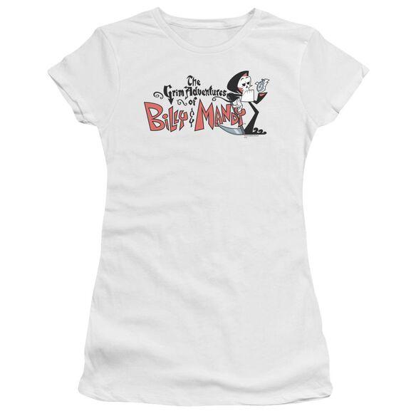 Billy & Mandy Logo Short Sleeve Junior Sheer T-Shirt