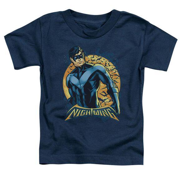 Batman Nightwing Moon Short Sleeve Toddler Tee Navy Sm T-Shirt