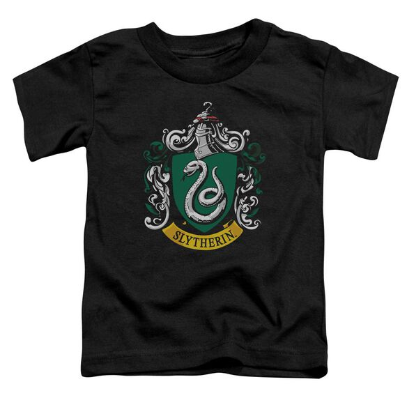Harry Potter Slytherin Crest Short Sleeve Toddler Tee Black T-Shirt