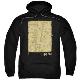 Harry Potter Marauders Map Interior Adult Pull Over Hoodie