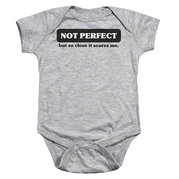 Not Perfect Infant Snapsuit Athletic Heather