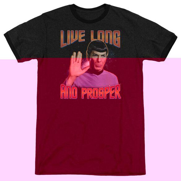 St Original Live Long And Prosper - Adult Heather Ringer - Black