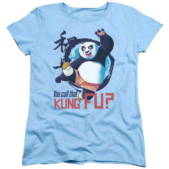 Kung Fu Panda Kung Fu Short Sleeve Womens Tee Light T-Shirt