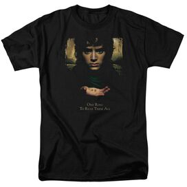 Lor Frodo One Ring Short Sleeve Adult Black T-Shirt