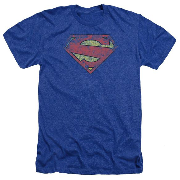 Superman New 52 Shield Adult Heather Royal