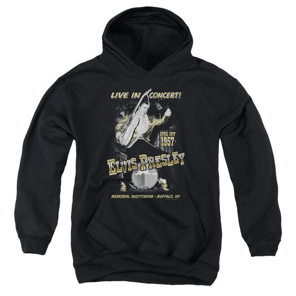 Elvis Live In Buffalo Youth Pull Over Hoodie