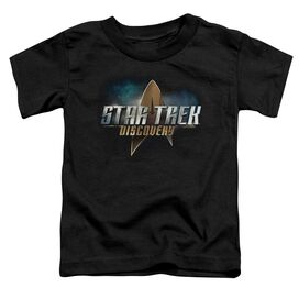 Star Trek Discovery Discovery Logo Short Sleeve Toddler Tee Black T-Shirt