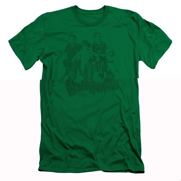 LITTLE RASCALS THE GANG - S/S ADULT 30/1 - KELLY GREEN T-Shirt
