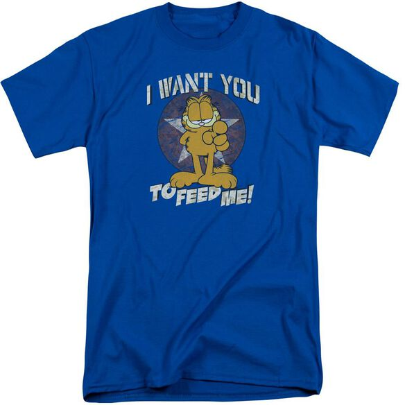 Garfield I Want You Short Sleeve Adult Tall Royal T-Shirt