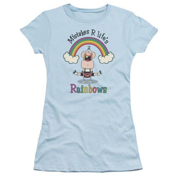 Uncle Grandpa Life's Rainbows Short Sleeve Junior Sheer Light T-Shirt