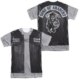 Sons Of Anarchy Unholy Costume (Front Back Print) Short Sleeve Adult Poly Crew T-Shirt