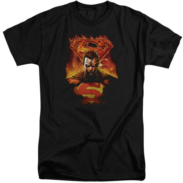 Superman Man On Fire Short Sleeve Adult Tall T-Shirt