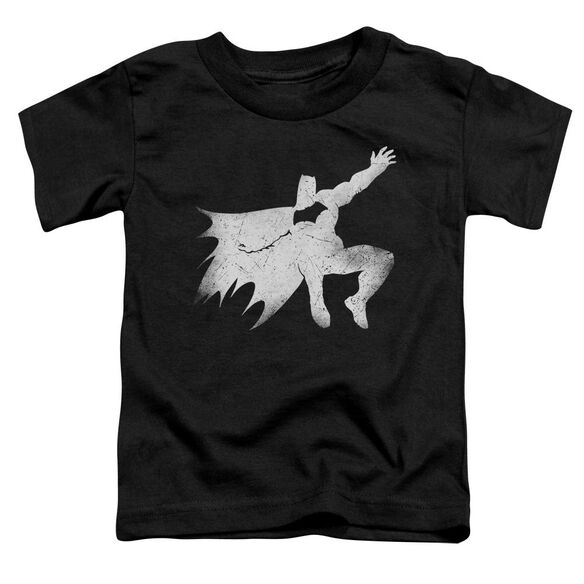 Batman V Superman Knight Silhouette Short Sleeve Toddler Tee Black T-Shirt