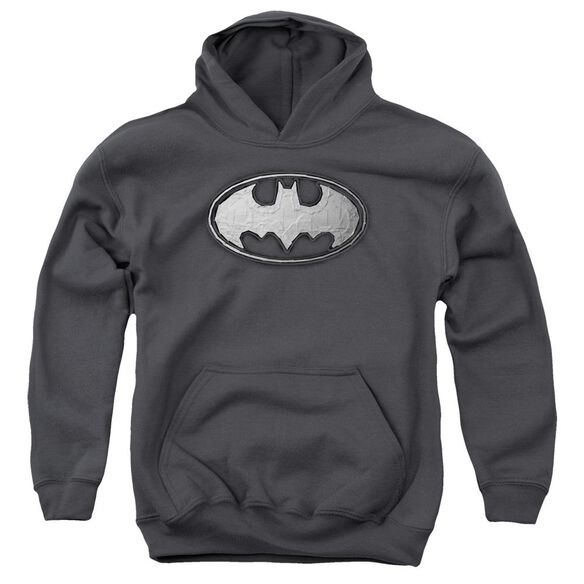 Batman Duct Tape Logo Youth Pull Over Hoodie