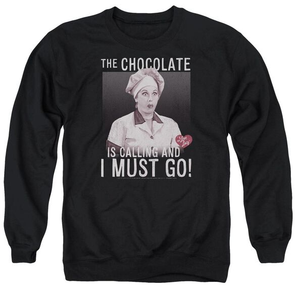 I Love Lucy Chocolate Calling Adult Crewneck Sweatshirt