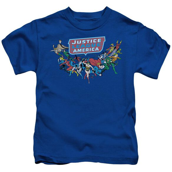 Dc Here They Come Short Sleeve Juvenile Royal Blue T-Shirt