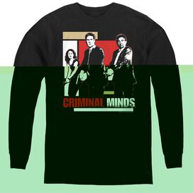 Criminal Minds Guns Drawn - Youth Long Sleeve Tee - Black