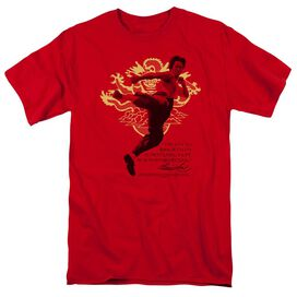 BRUCE LEE IMMORTAL DRAGON - S/S ADULT 18/1 - RED T-Shirt