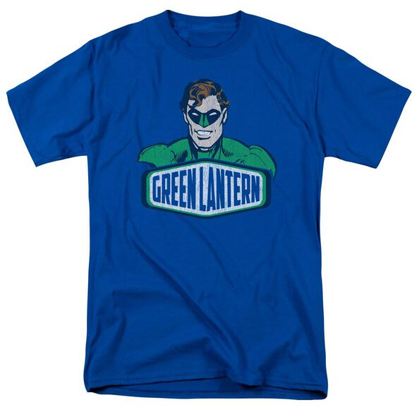 Dco Green Lantern Sign Short Sleeve Adult Royal Blue T-Shirt