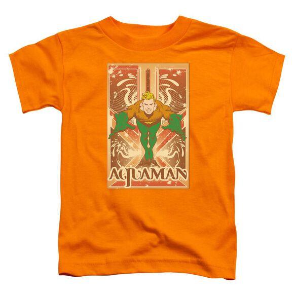 Dc Aquaman Short Sleeve Toddler Tee Orange Lg T-Shirt