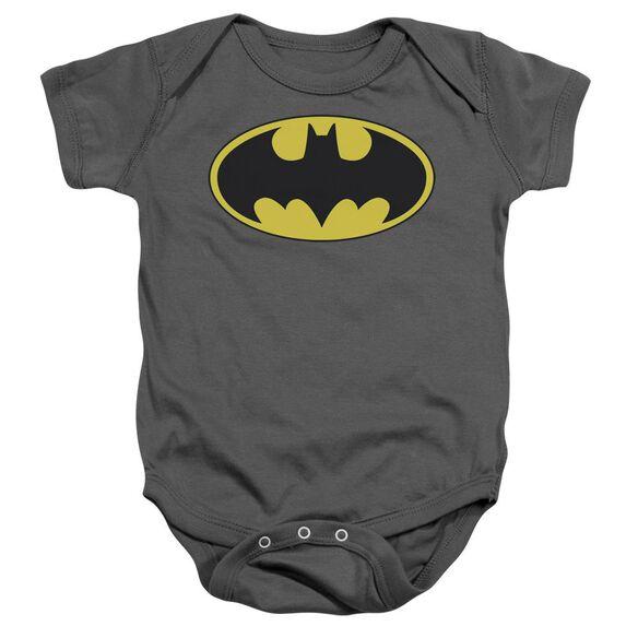 Batman Classic Bat Logo Infant Snapsuit Charcoal