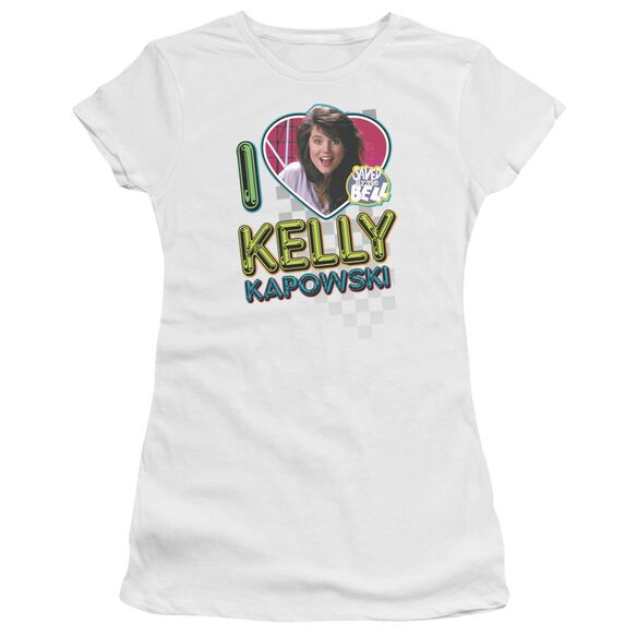 Saved By The Bell I Love Kelly Premium Bella Junior Sheer Jersey