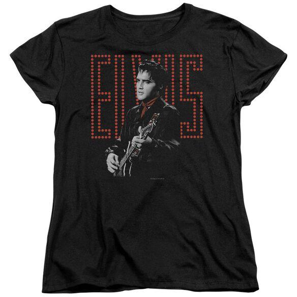 Elvis Presley Red Guitarman Short Sleeve Womens Tee T-Shirt