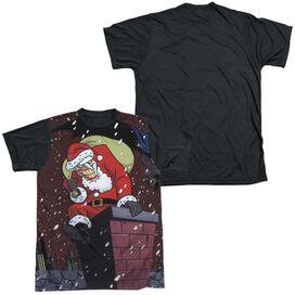 Batman The Animated Series Joker Claus Short Sleeve Adult Front Black Back T-Shirt