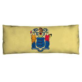 New Jersey Flag Microfiber Body Pillow