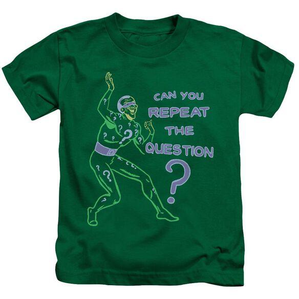 Batman Repeat Short Sleeve Juvenile Kelly Green T-Shirt
