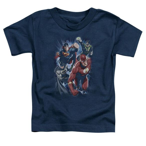 Jla Storm Chasers Short Sleeve Toddler Tee Navy Lg T-Shirt