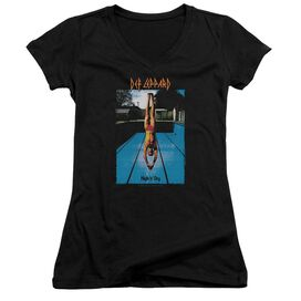 Def Leppard High N Dry Junior V Neck T-Shirt
