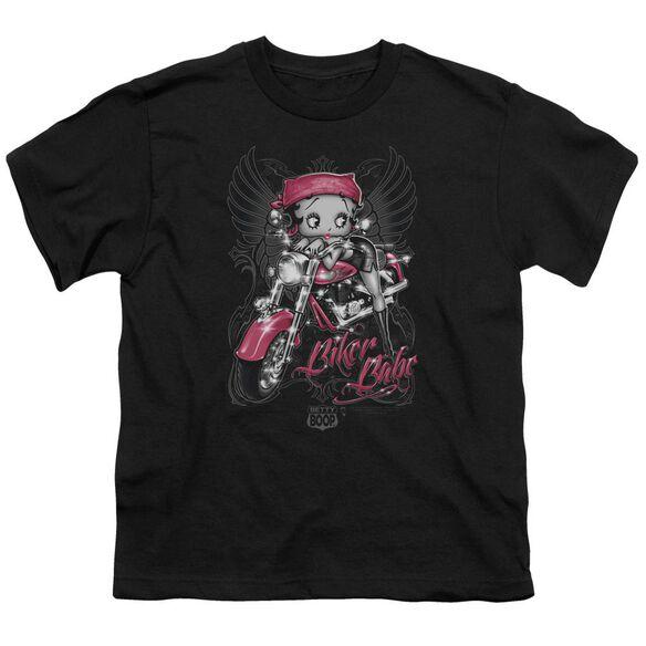 Betty Boop Biker Babe Short Sleeve Youth T-Shirt
