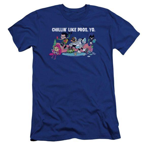 Teen Titans Go Like Pros Yo Hbo Short Sleeve Adult Royal T-Shirt