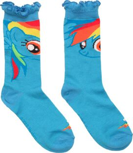 My Little Pony Rainbow Dash Ruffle Crew Socks