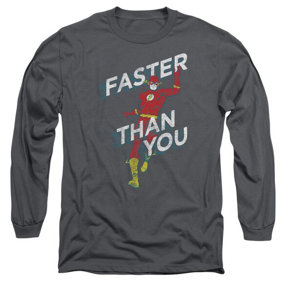 Dc Faster Than You Long Sleeve Adult T-Shirt