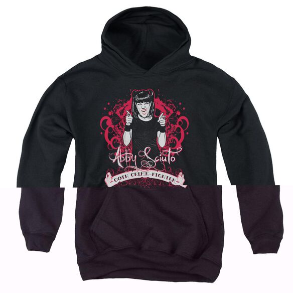 Ncis Goth Crime Fighter-youth Pull-over Hoodie - Black