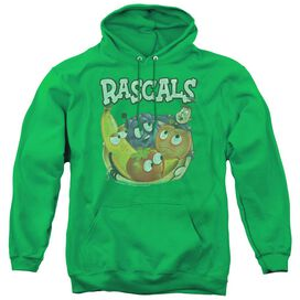 Dubble Bubble Rascals - Adult Pull-over Hoodie - Kelly Green