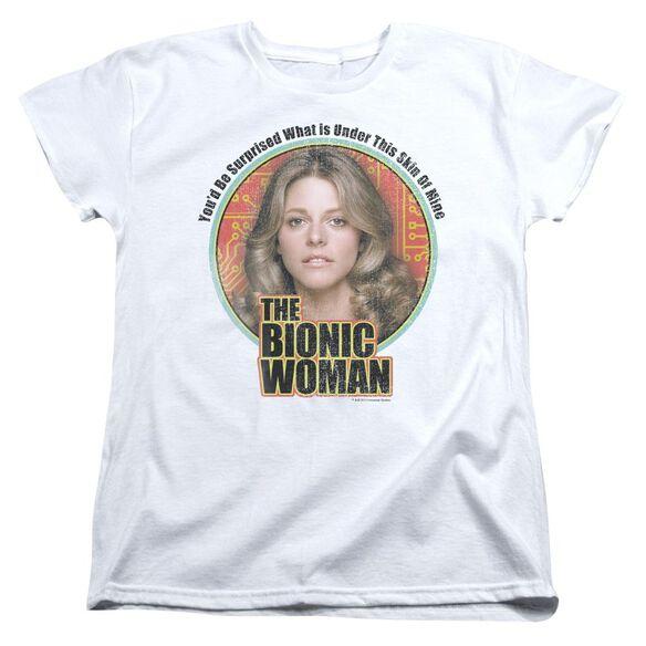 Bionic Woman Under My Skin Short Sleeve Womens Tee White T-Shirt