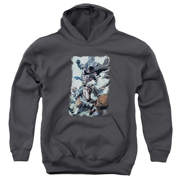 Batman Punch Youth Pull Over Hoodie