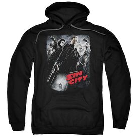 Sin City Sc Poster Adult Pull Over Hoodie Black