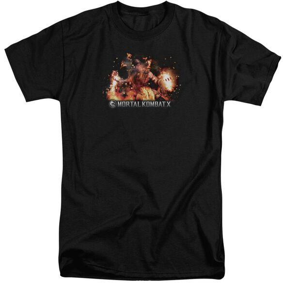 Mortal Kombat Scorpio Flames Short Sleeve Adult Tall T-Shirt