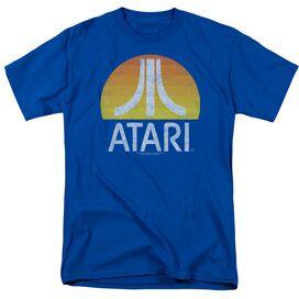 Atari Sunrise Eroded Short Sleeve Adult Royal T-Shirt