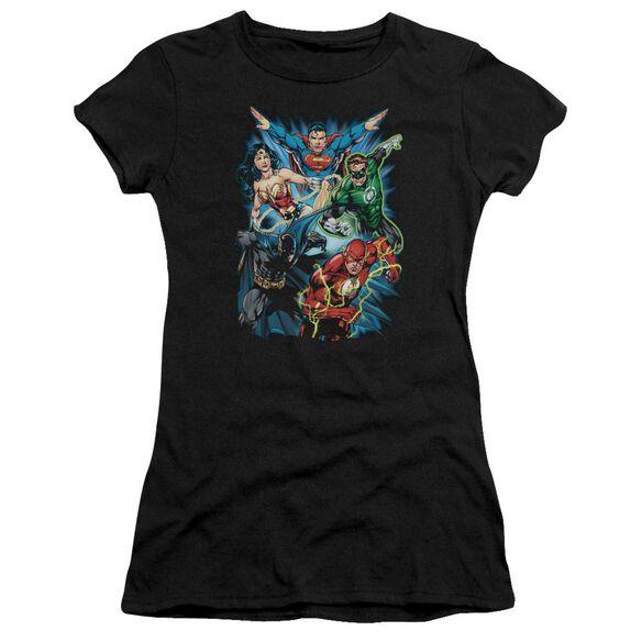 Jla Jl Assemble Short Sleeve Junior Sheer T-Shirt