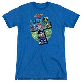 Teen Titans Go T Adult Heather Ringer Royal Blue