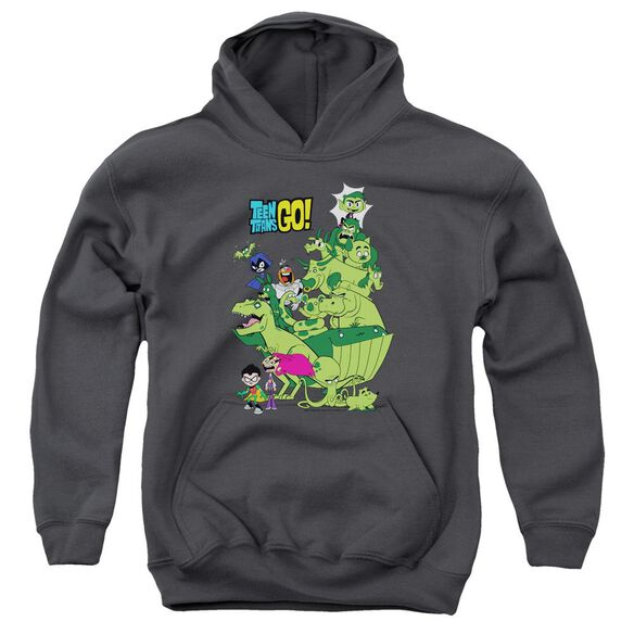 Teen Titans Go Beast Boy Stack Youth Pull Over Hoodie