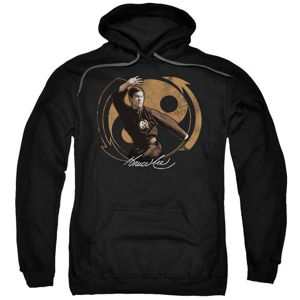 Bruce Lee Jeet Kun Do Pose Adult Pull Over Hoodie