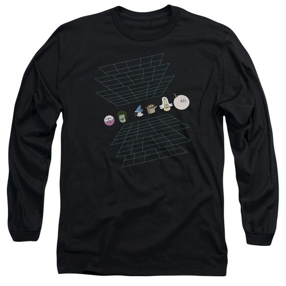 The Regular Show Regular Grid Long Sleeve Adult T-Shirt