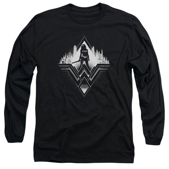 Batman V Superman City Warrior Long Sleeve Adult T-Shirt